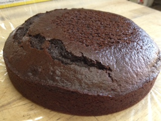 Test Cake #2. A little darker in color than my father-in-law would want, but so delicious! Would it sneak by?