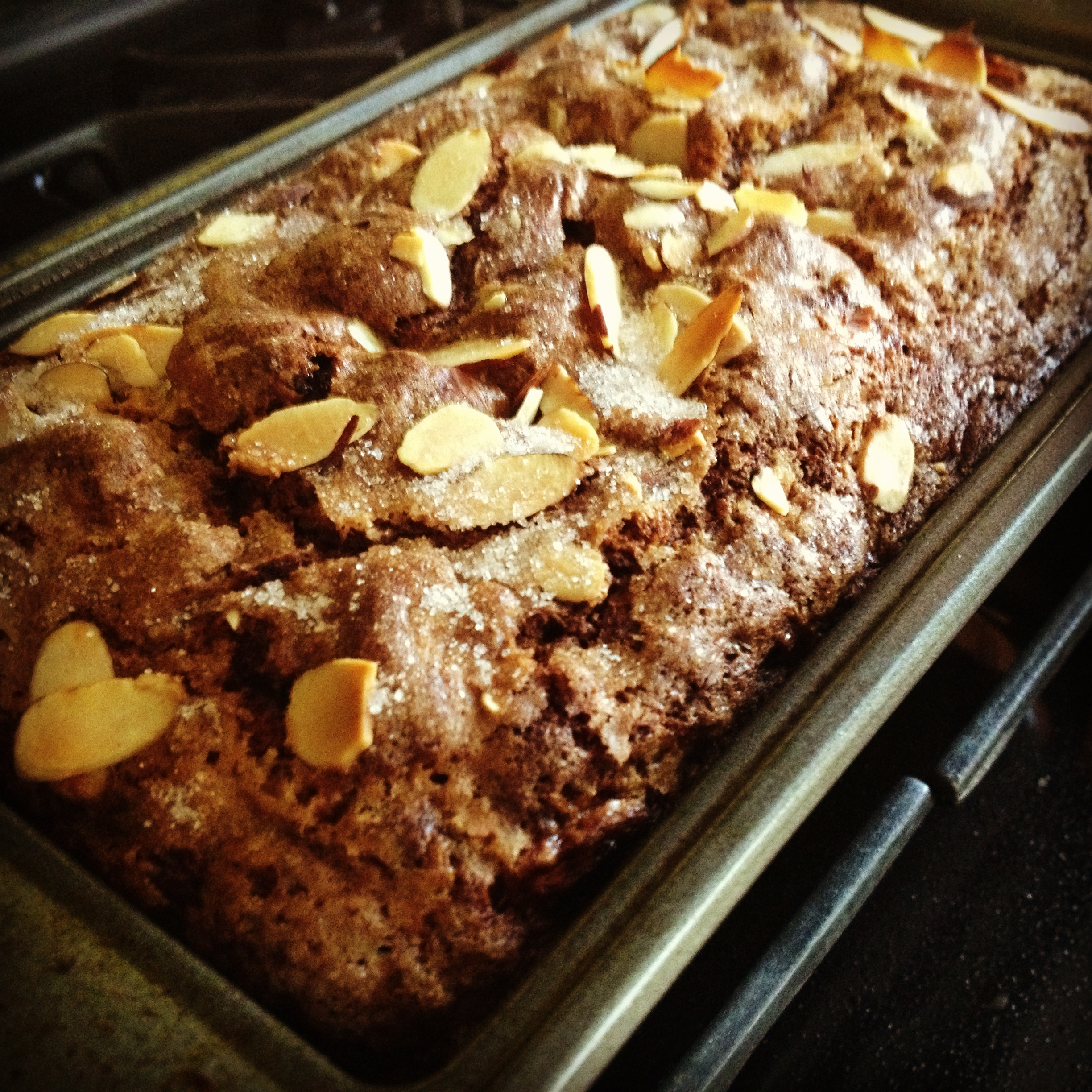 Nutella Banana Bread, fresh from the oven