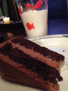 A slice of Cake #2. My husband's aunt loved it. But there was still no pleasing the F-I-L. I had my work cut out for me!